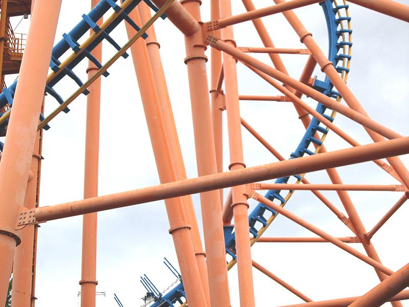 montaña rusa - Parque Warner en verano - Once a Day blog