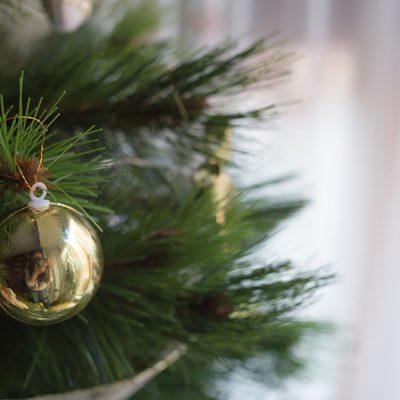 reflejo en bola de navidad - homenaje a ferdinando scianna