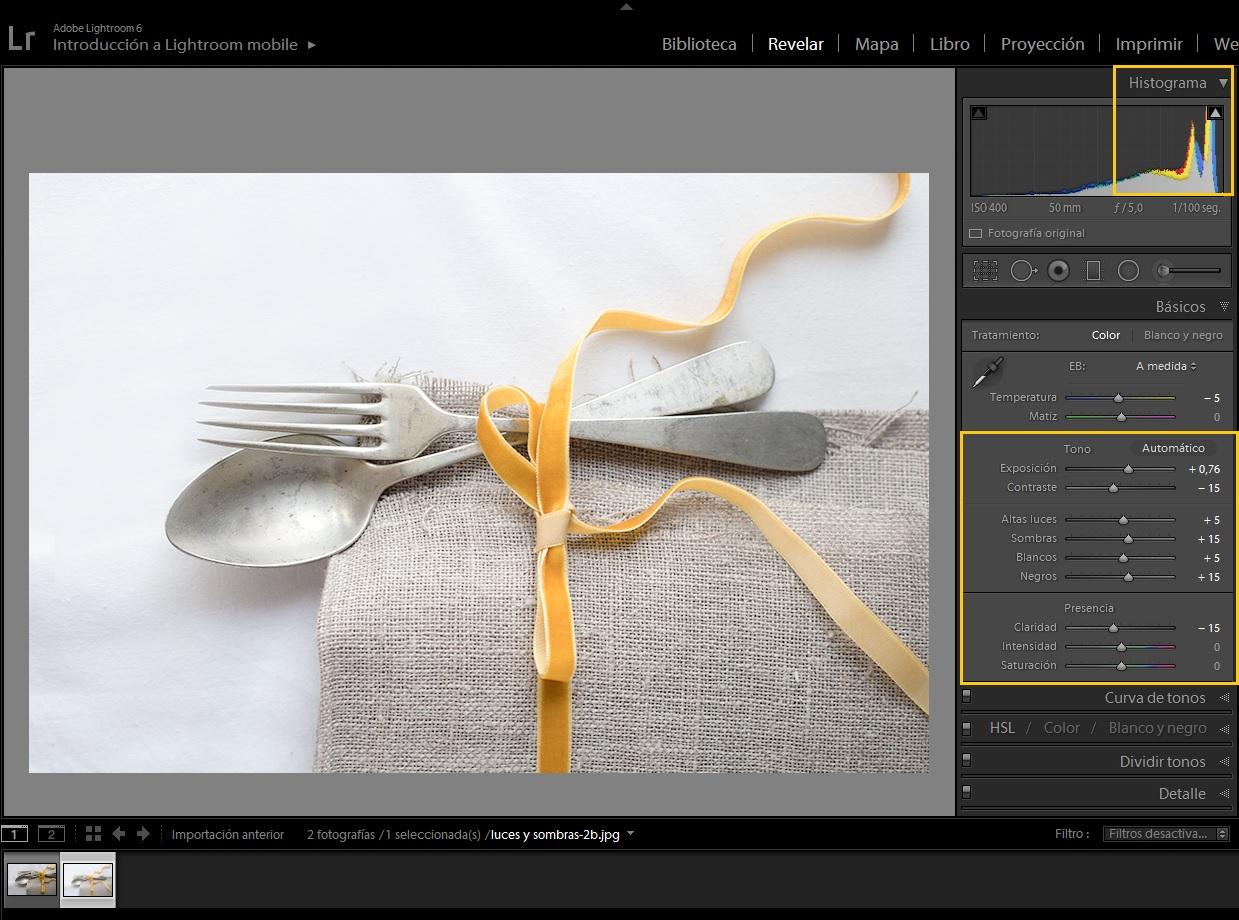 editar para luces, editar para sombras - Once a Day blog