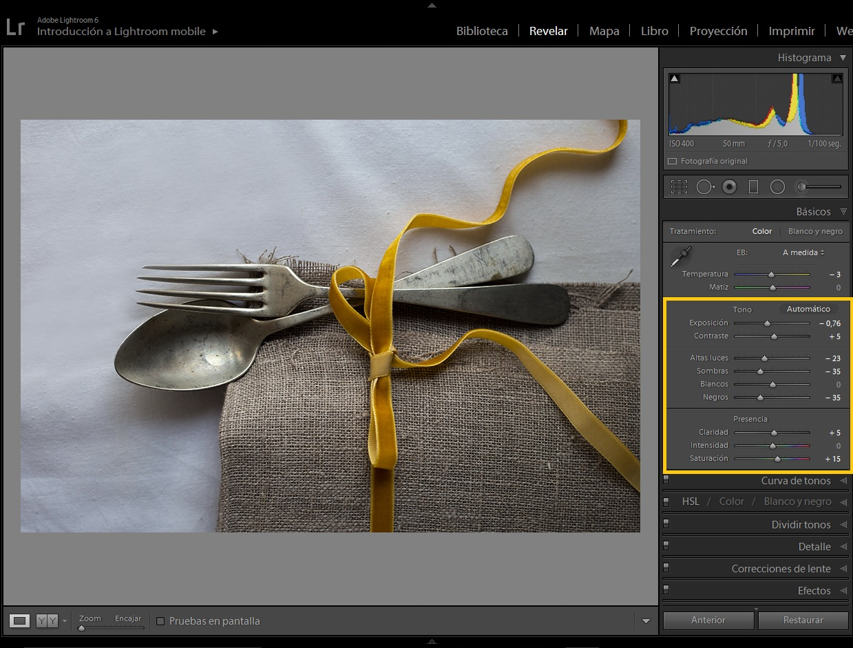 editar para luces o editar para sombras - Once a Day blog